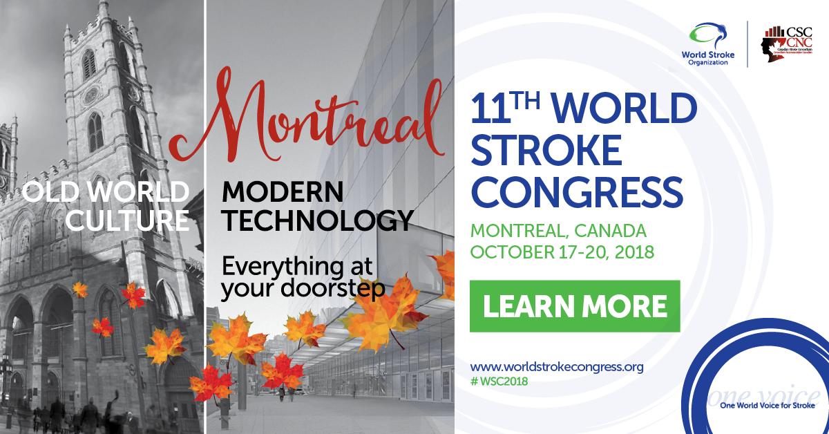 11th WORLD STROKE CONGRESS 2018 MONTREAL